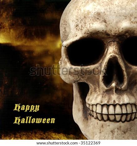 Happy Halloween image and text - stock photo