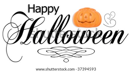 Happy Halloween type. - stock photo