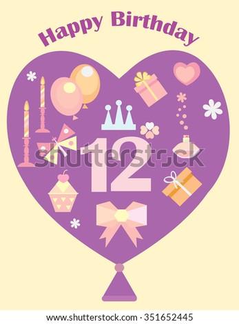 Happy holiday greeting card girlsbat mitzvah stock illustration happy holiday greeting card for girlsbat mitzvah m4hsunfo