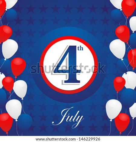Happy Holiday National Independence 4th July US concept background. - stock photo