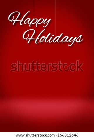Happy Holidays Blank 3D Greeting Card Background Template - stock photo