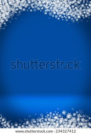 Happy Holidays Winter Blank Greeting Card Background Template - stock photo