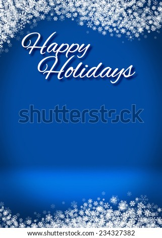 Happy Holidays Winter Greeting Card Background Template - stock photo