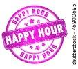 Happy hour stamp - stock