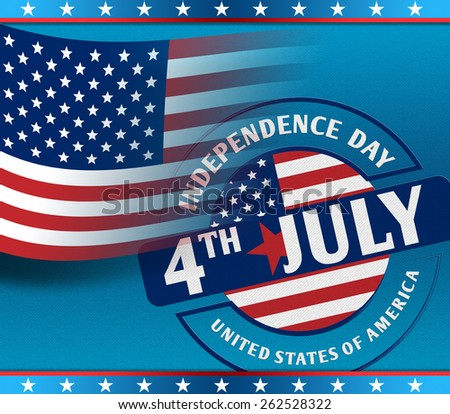 Happy independence day card United States of America as concept - stock photo
