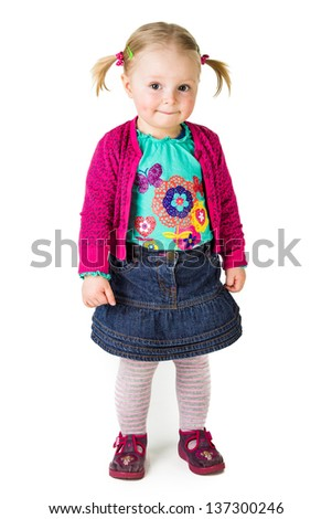 Happy infant child - stock photo