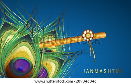 Happy Janmasthami background. - stock photo