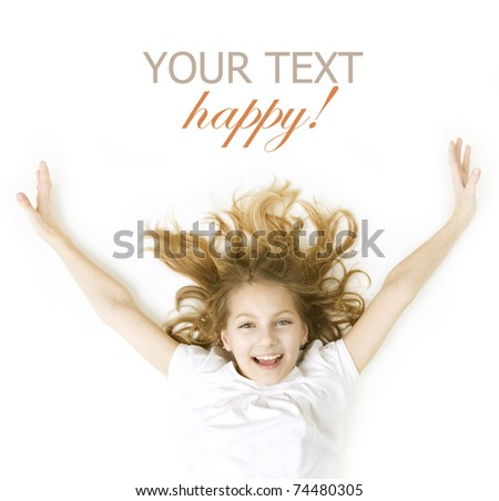 Happy Kid.Emotions - stock photo