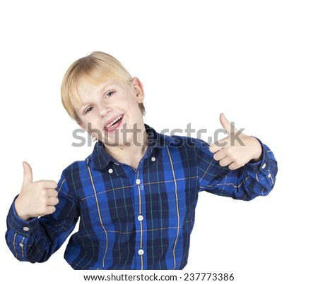 happy kid positive - stock photo