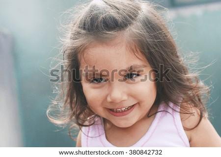 Happy latin kid - stock photo