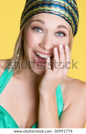 Happy Laughing Woman - stock photo