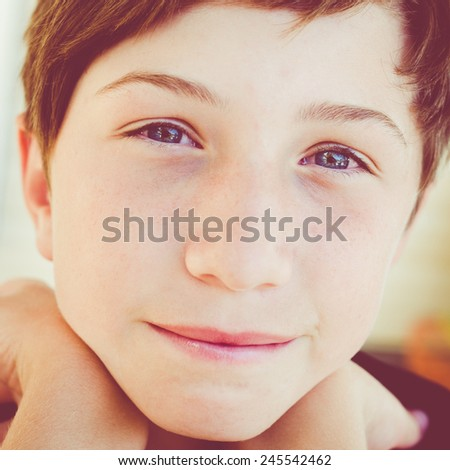 happy little boy  - stock photo