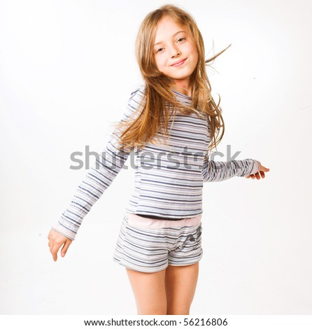 happy little girl - stock photo