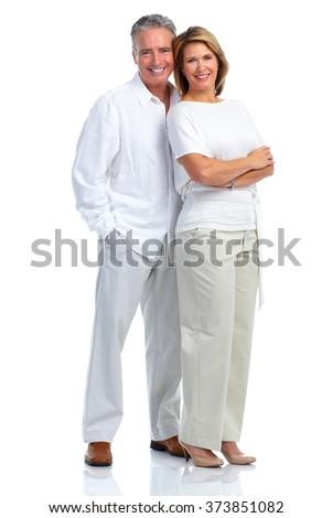 Happy loving elderly couple. - stock photo