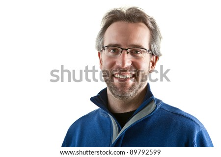 Happy man portrait - stock photo
