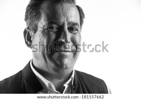 happy man smiling close up - stock photo