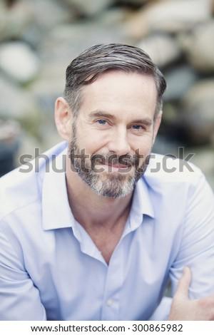 happy mature man - stock photo