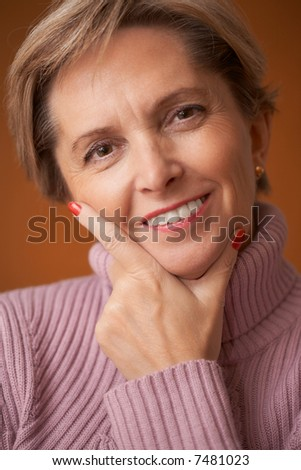 Happy mature woman - stock photo