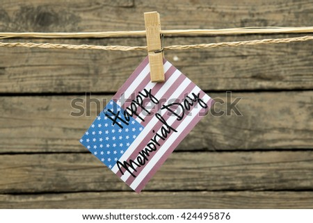 Happy Memorial Day Card or background. - stock photo