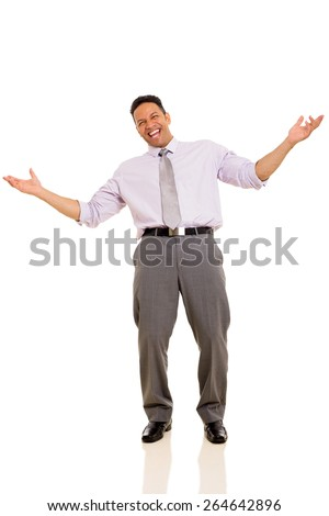 happy middle aged man laughing on white background - stock photo