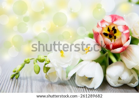 happy mother day, with beautiful flower - stock photo