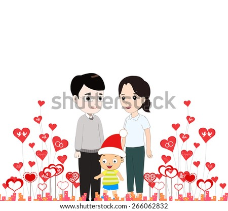 happy mother day with my family - stock photo
