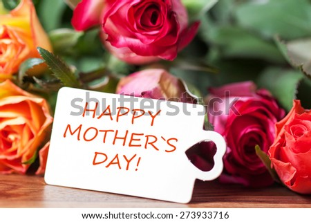 happy mother`s day - stock photo
