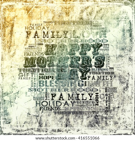 Happy Mother's Day  Grunge background  - stock photo