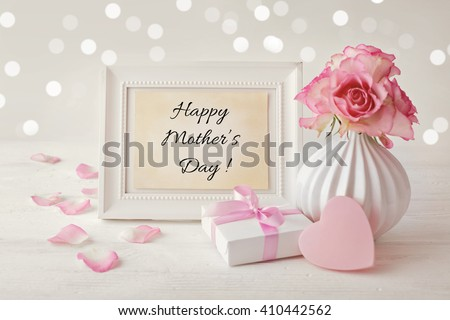 happy mothers day frame background - stock photo