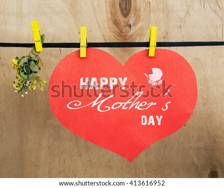 Big White Heart Red Little Hanging Stock Photo 413878555 ...