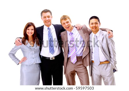 happy much ethnic business people worth together