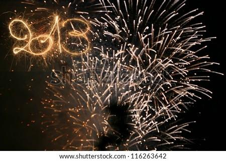 Happy New Year - 2013 - stock photo