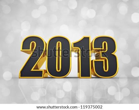 Happy New Year , 2013 - stock photo