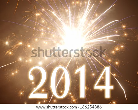 happy new year 2014     - stock photo