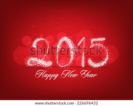 Happy new year abstract light background - stock photo