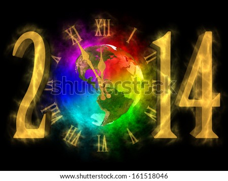 Happy new year 2014 - America  - stock photo
