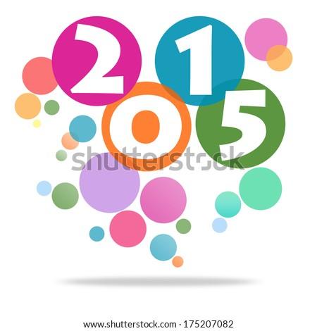 Happy New Year 2015 Background image - stock photo