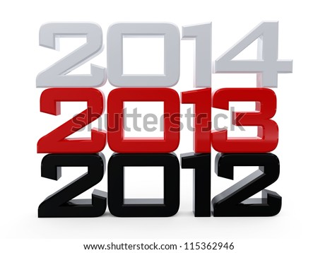 Happy New Year 2013 Calendar Background... - stock photo