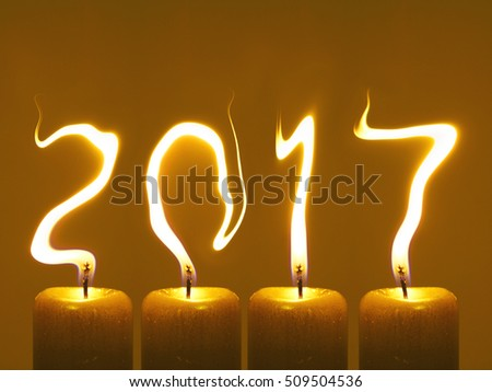 Happy new year 2017 - candles