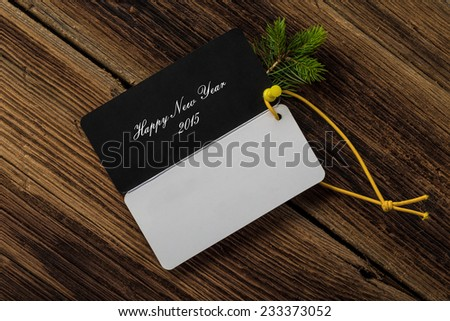 Happy New Year card - stock photo