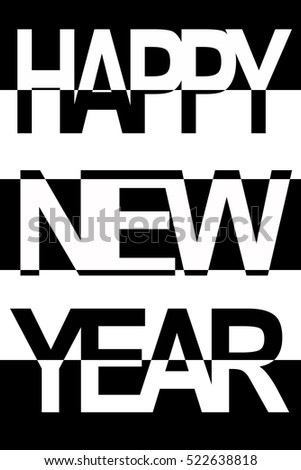 Happy New Year Card New Year Stock Illustration 522638818 Shutterstock