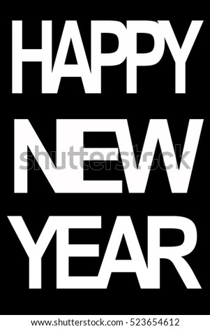 Happy New Year Card New Year Stock Illustration 523654612 Shutterstock
