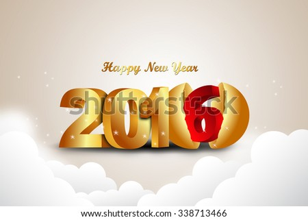 Happy New Year 2016 celebration concept