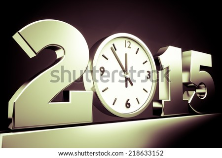 happy new year 2015 concept, 3d render - stock photo