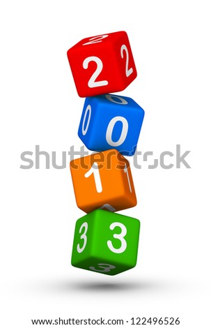Happy New Year 2013 cubes sign - stock photo