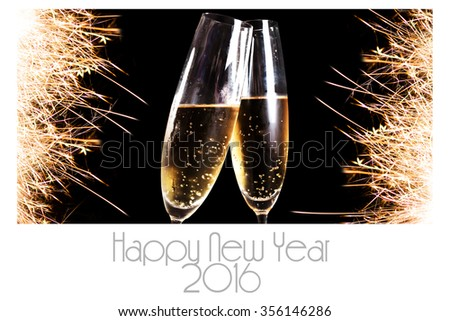 Happy new Year 2016 greeting card - stock photo