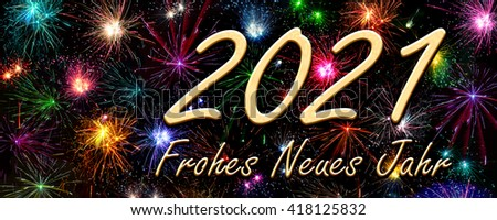 Happy New Year 2021 in German