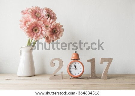 Happy New Year 2017 on a white background - stock photo