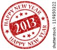 Happy new year 2013  stamp - stock vector