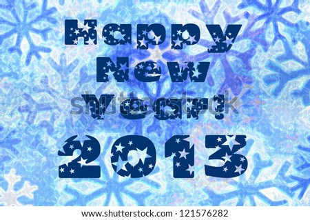 Happy New Year 2013 with snowflake design concept